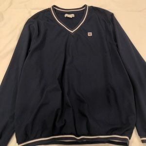 Vintage Blue V-Neck Pullover Sweater